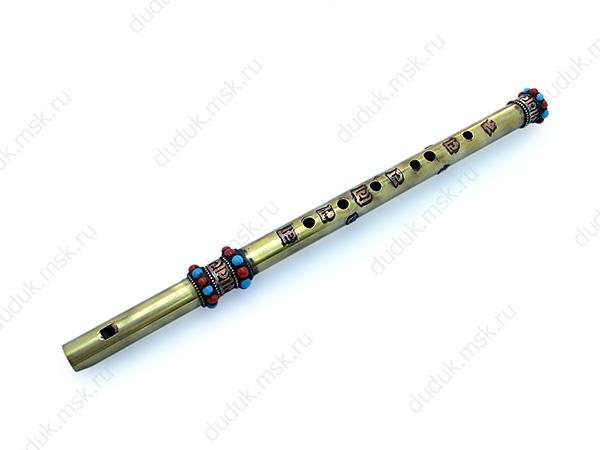 Металлическая флейта с блок-свистком